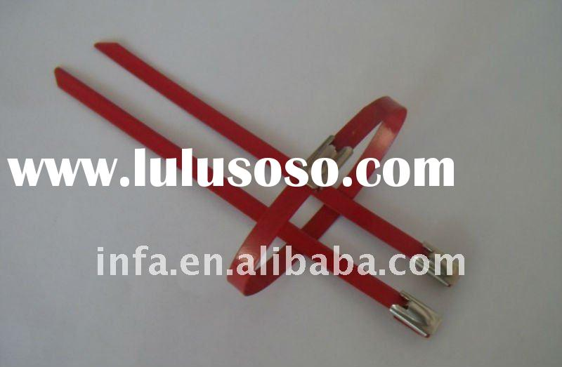 PVC spraying stainless steel cable ties
