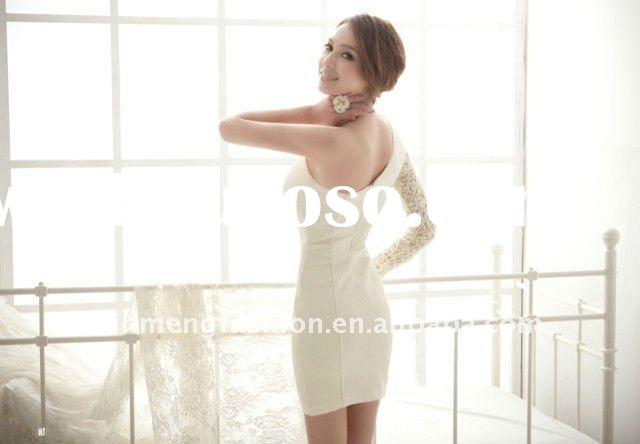 2012 lady lace sleeve prom dress