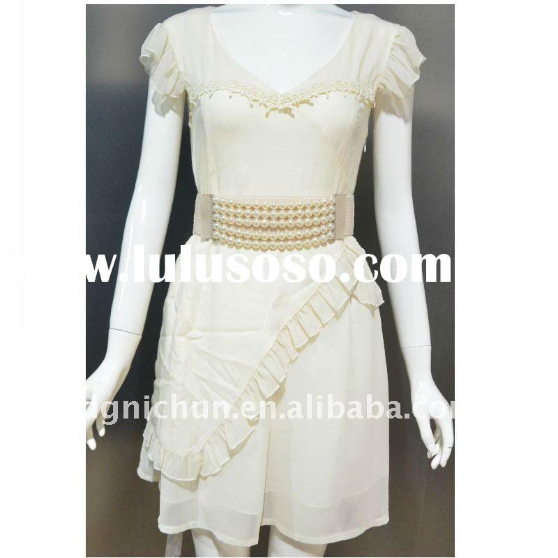 women's fashion dress with a beautiful belt