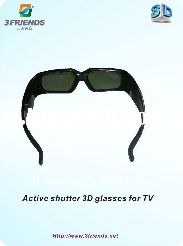 Black active shutter 3D Glasses with ABS+PC