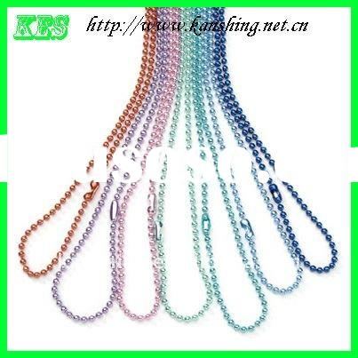 0 Wholesale colored stainless steel ball chain costume jewelry