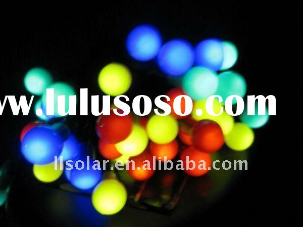 4 colors led ball solar string light multi function
