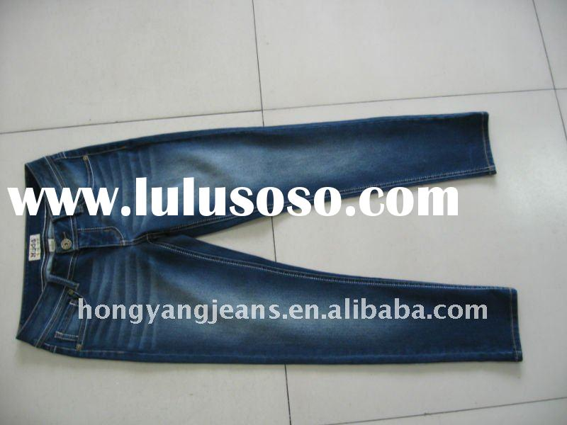 Long size women or girl denim Jeans Trousers with Slim On Ankles