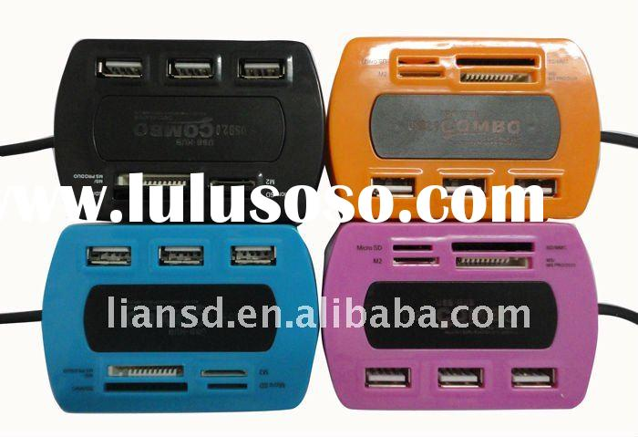 fashion design combo all in one USB card reader with hub factory prices good quality