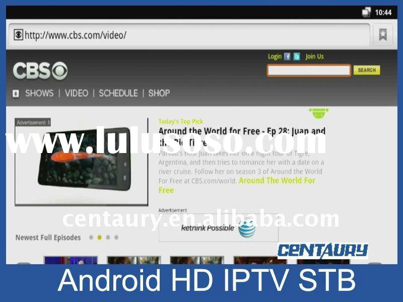 IPTV set top box, IP STB, internet tv box (Flash 10.1)