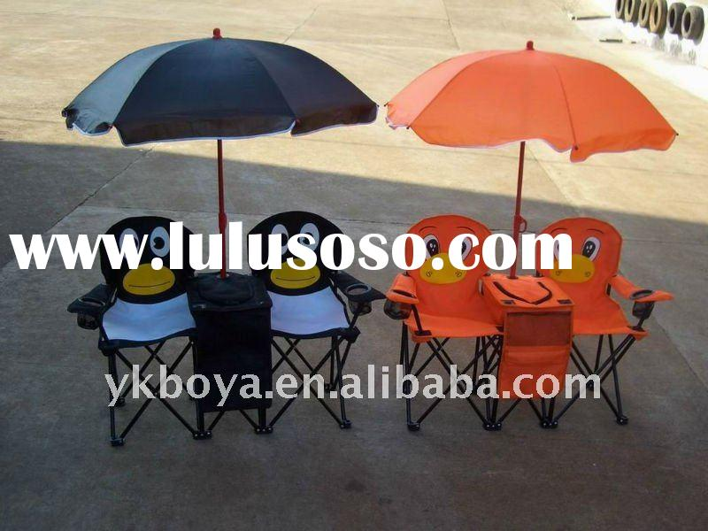 lovely kid chair with table and umbrella