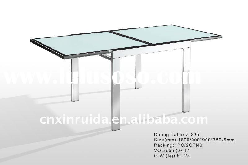 Glass Extendable Dining Table Glass Extendable Dining