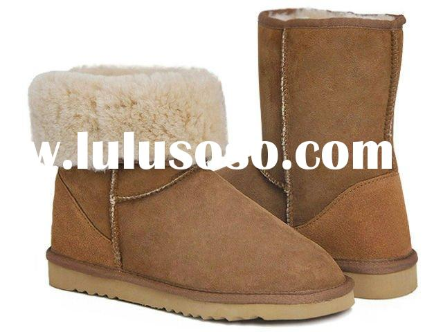 2011 new warm snow boot 5825 women Ankle boots brown