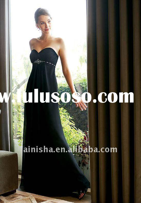 2011 simple elegant fashion one-shoulder floor length ruffle chiffon party evening dress