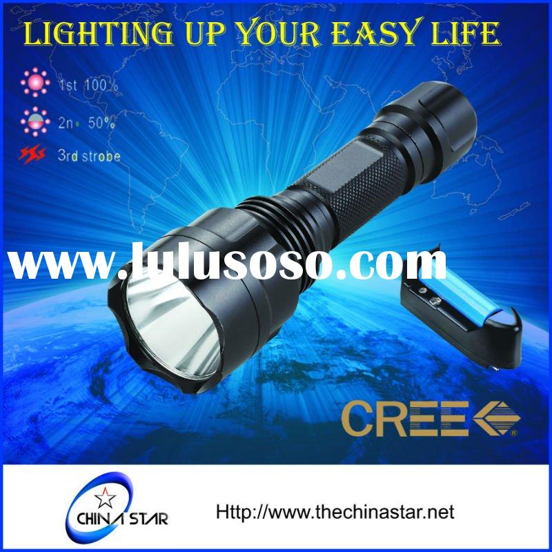 Cree LED rechargeable Tactical Flashlight Torch