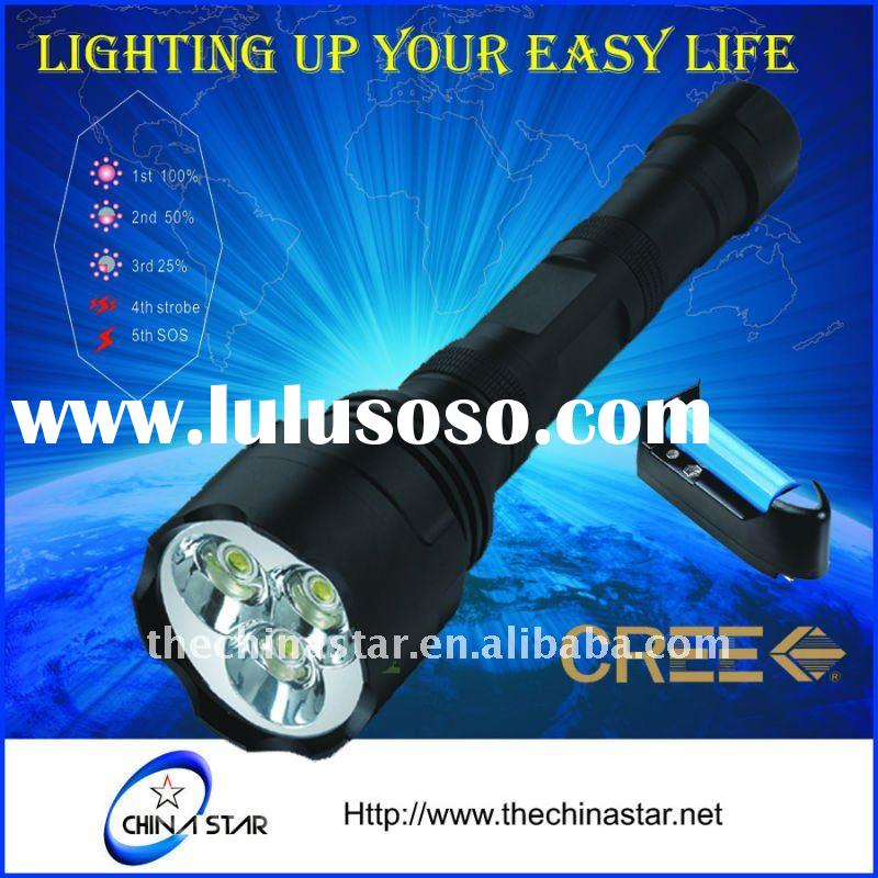 Cree LED rechargeable Tactical  Torch Flashlight