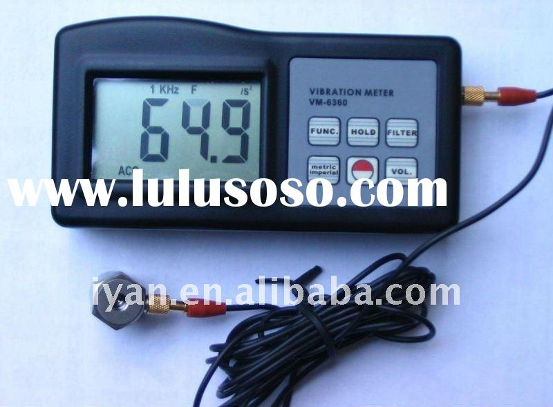 VM-6360 Digital Vibration Tester Meter Vibrometer with Software for V,A,D,F&RPM w/RS232C