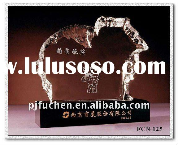 3d laser crystal award