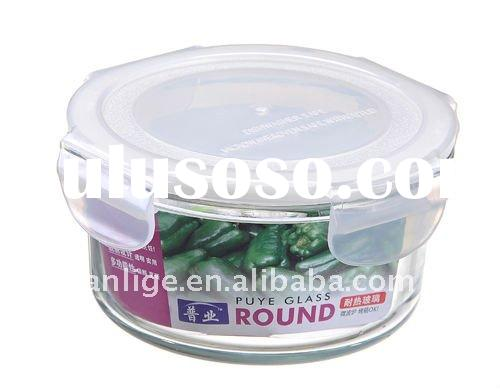 230ML rectangle glass food container for freshness, microwave and heatable