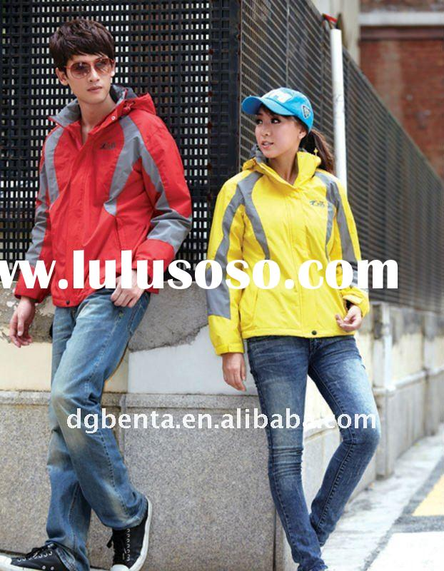 2011 Very Popular New Fashion Winter Good Quality 100% Polyester Couple  Zipper Up Outside Jacket Sp