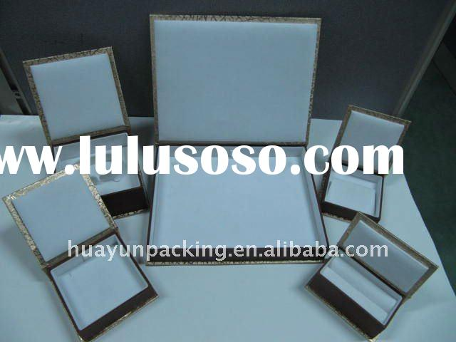Elegant top grade gold jewelry box with five unit of wood frame