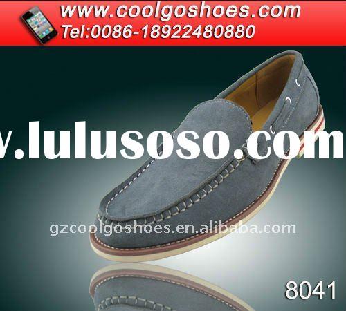 the newest durable leather casual shoes made in Guangzhou