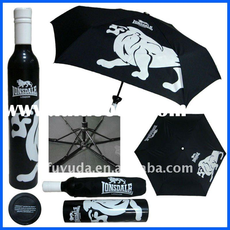 logo advertising wine bottle umbrella