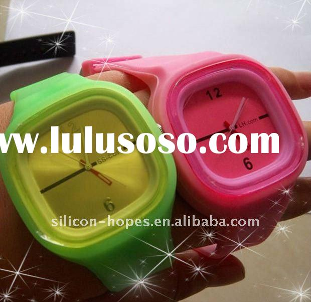 Lovely colorful silicone Jelly Watch For Ladies