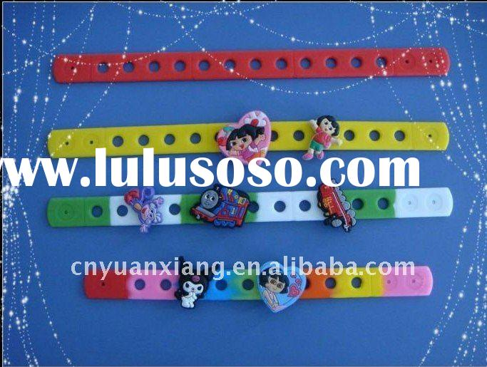 Funny Silicone Wristband Magnetic With Charm For Kids at Factory Price in 2011