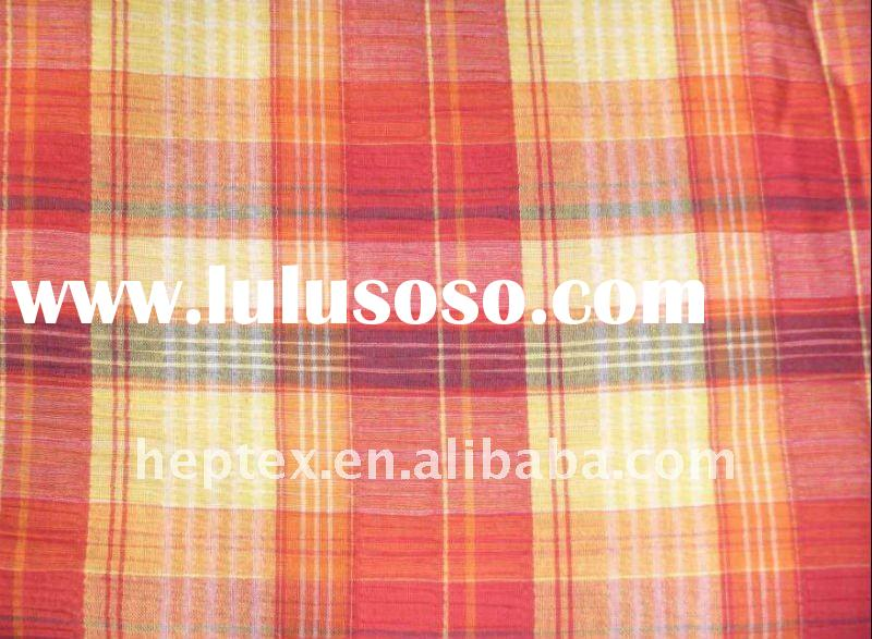 Plaid Cotton Yarn Dyed Fabric for women's shirt