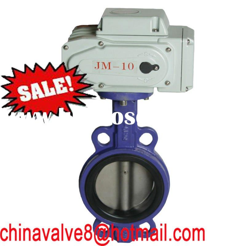 24V electric actuator wafer butterfly valve