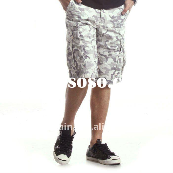 Casual men jean shorts cotton cargo shorts S3551