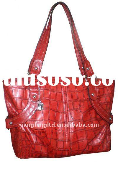 XFT003 stone pu  leather tote bag new style hand bag lady's stylish hand bag