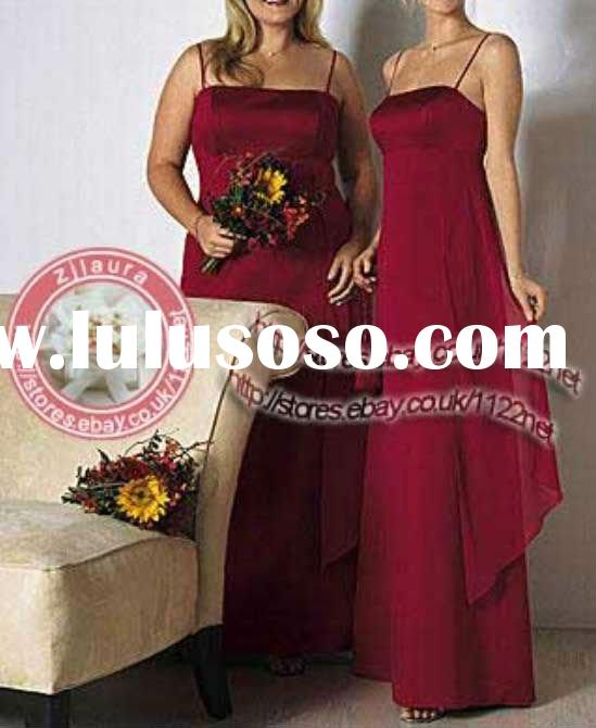 High Quality Long sash straps long bridesmaid dress evening dress ball gown prom dress flower girl d