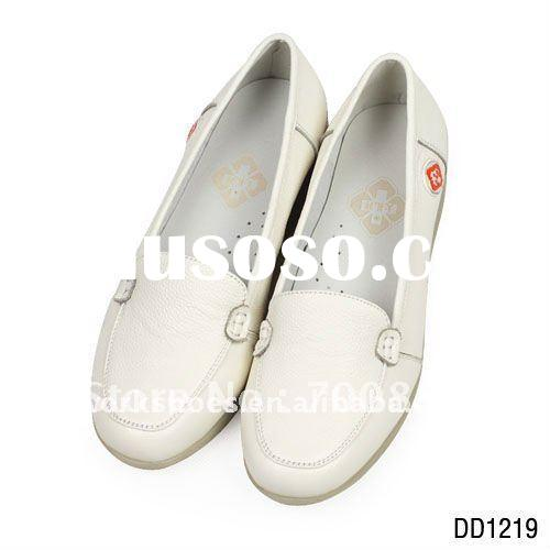 White leather shoes,  genuine leather nurse shoes