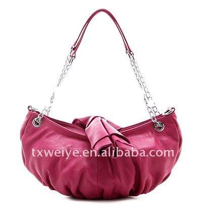 Cowskin-leather ladies' fashion handbag  (wy-107)