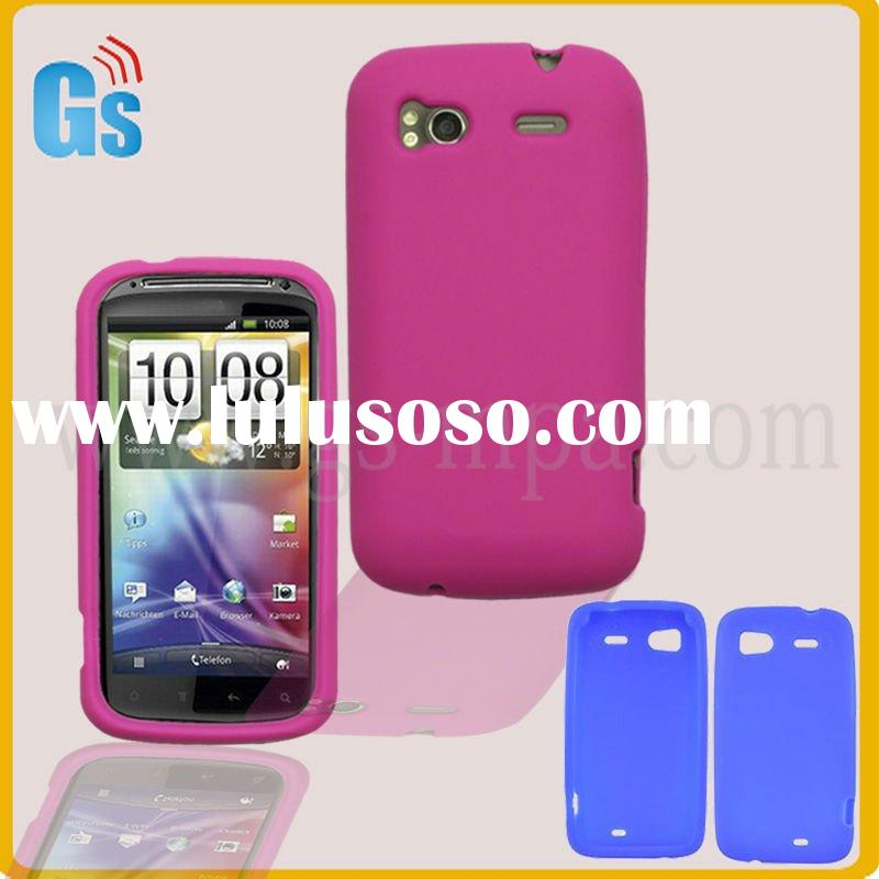 Hot-pink mobile phone case for htc sensation 4g silicone