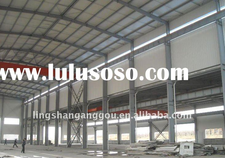 light steel structure with ISO9001:2008 for workshop ,coffee shop ,and so on