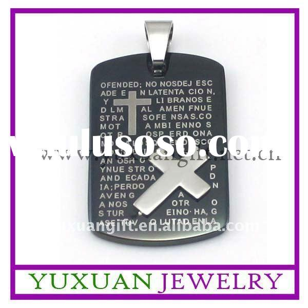 new design fashion stainless steel cross pendant jewelry