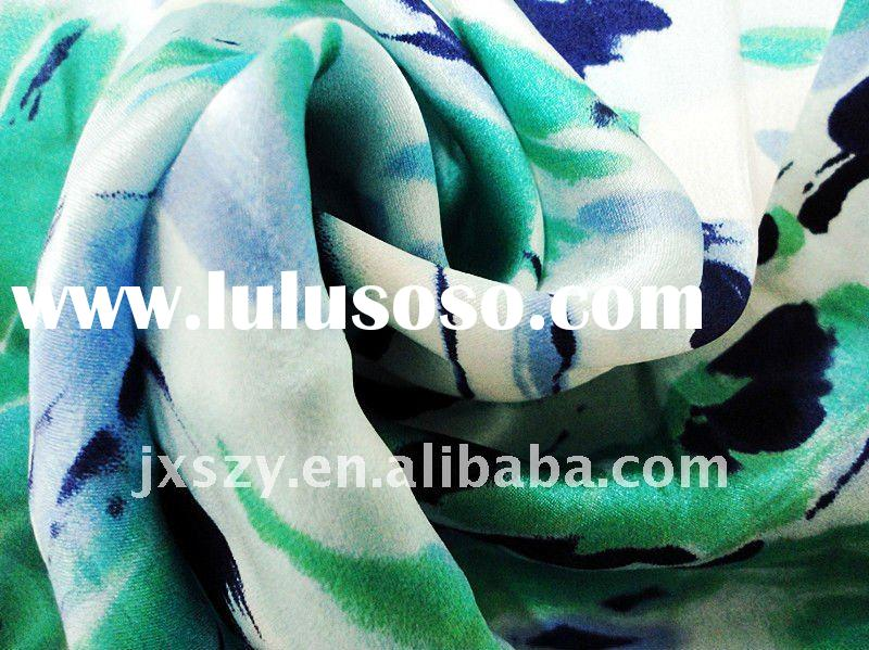 12mm silk satin printed fabric