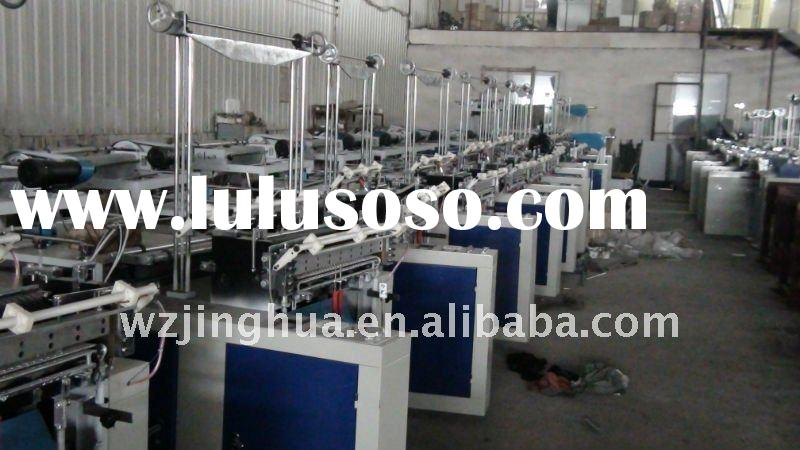 Computer controll hot sealing cold-cutting bag making machine