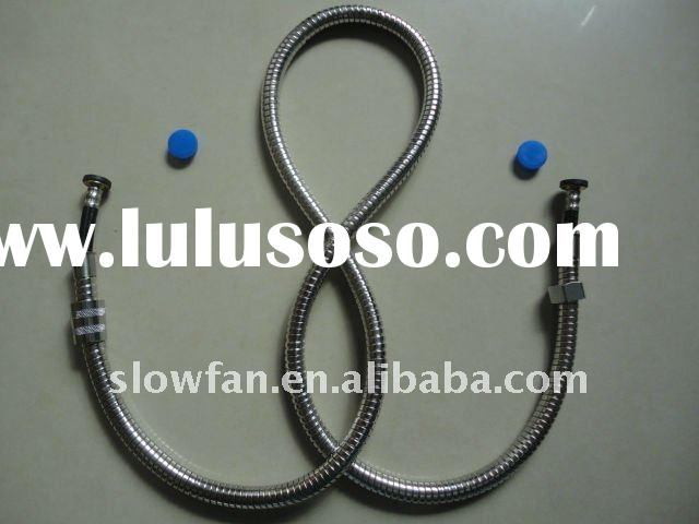 Stainless steel double lock shower hose with braided inner hose