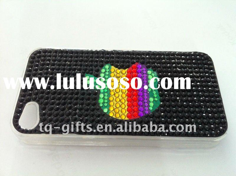 crystal cover with diamond case for iphone4