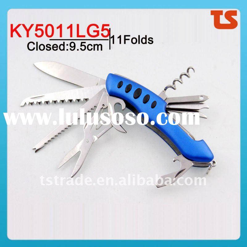 multi knife  pocket knife multi functiona LED knife mini knife promotion kinfe gift knife popular KY