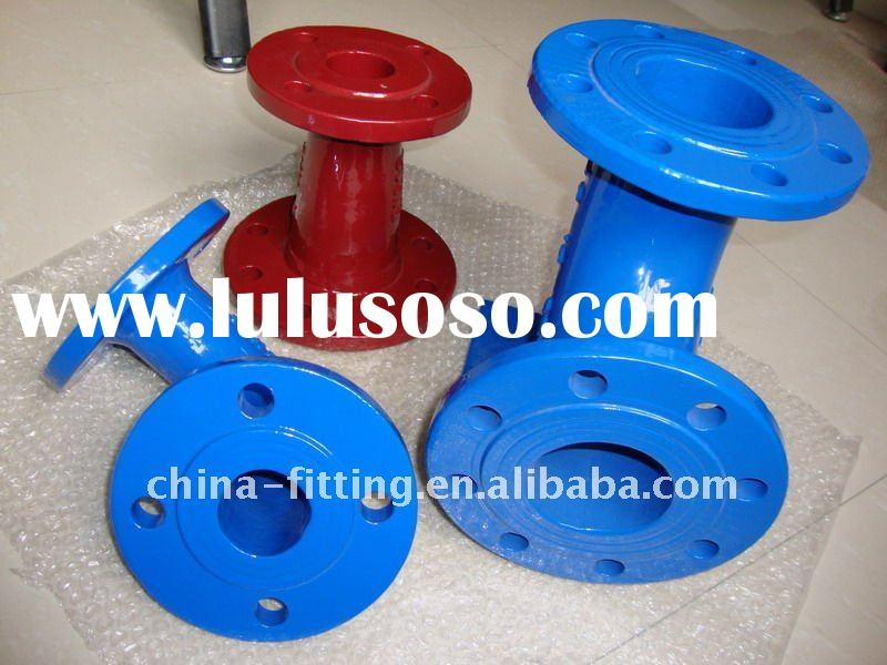 professional ductile iron pipe fittings manufacturing-flange pipe fitting