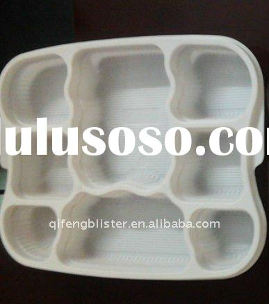 Custom PET PP PS PVC PE electronic tray ,cosmetic tray, plastic tray,food  tray,blister packaging  v