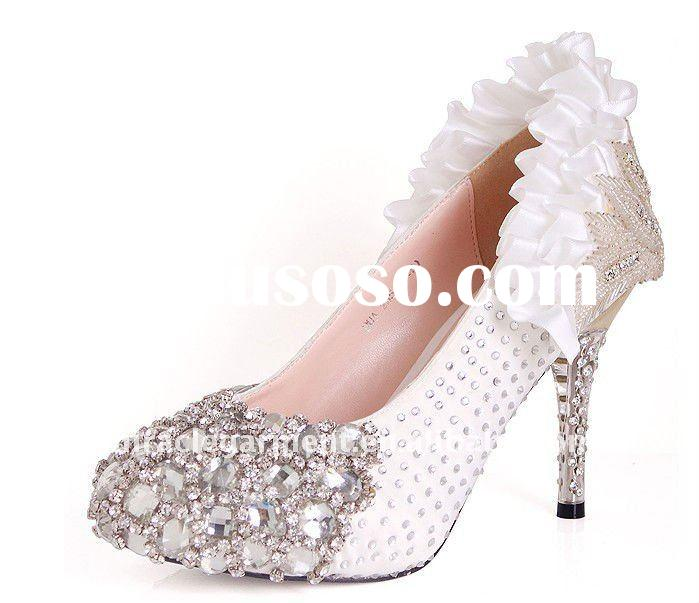 2011 New style crystal wedding dress shoes for women