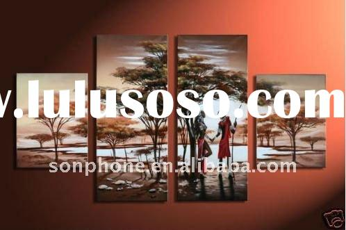 Wholesale Huge Home decoration Modern oil painting Canvas oil painting Canvas art Group oil painting