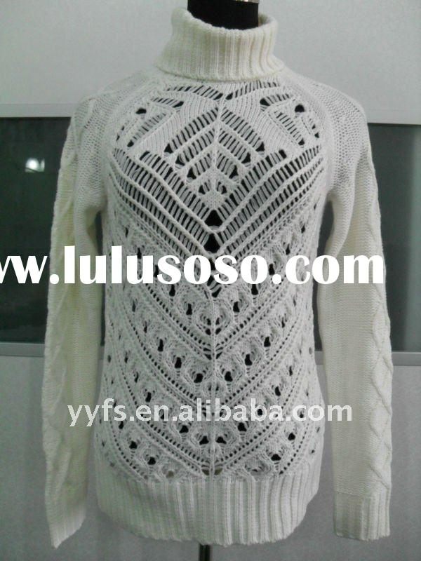 fashion crochet lady's sweater