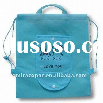 non woven drawstring bag with logo imprint