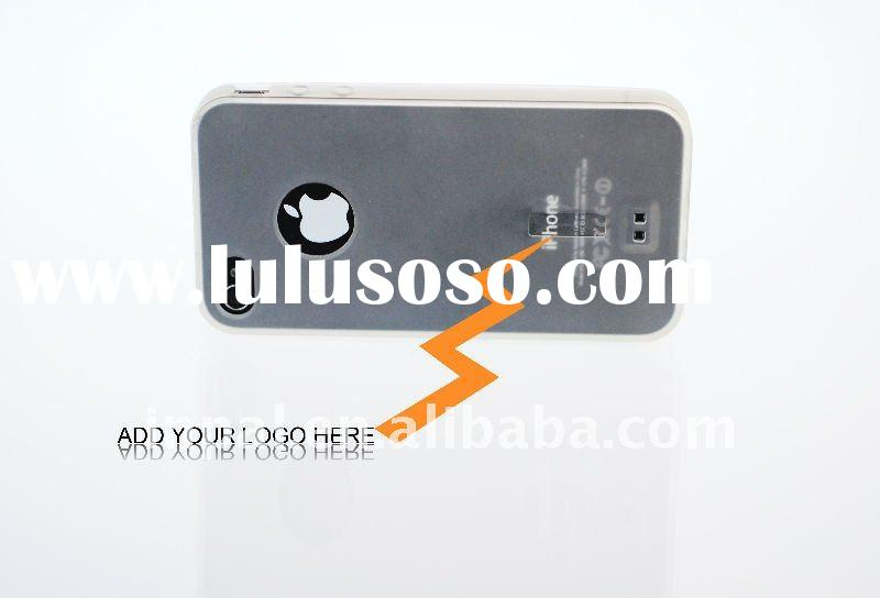 2011 brand-new soft touch TPU case with silicone logo label for iphone 4