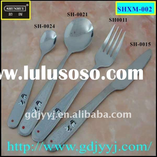 4-piece stainless steel flatware set including fork knife and spoon cutlery with beautiful handle