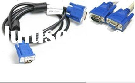 High quality blue vga cable 3+4 male to male ,male to femal  VGA 3+4 C OD7.0 1.5m 3m 25m optional wh