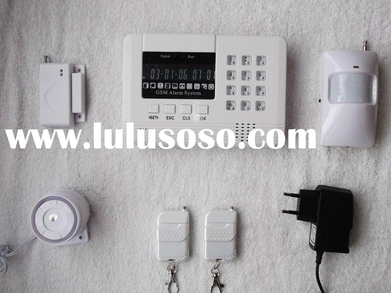 LCD display home gsm security alarm system with voice indication for operation
