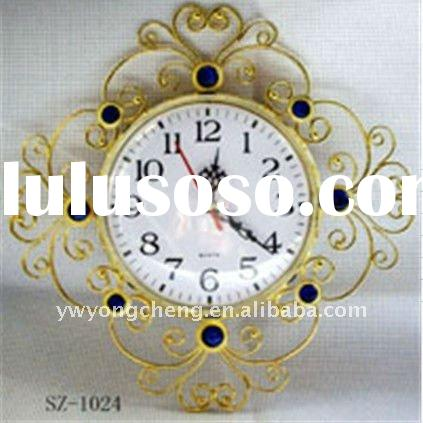 home decoration metal wall clock